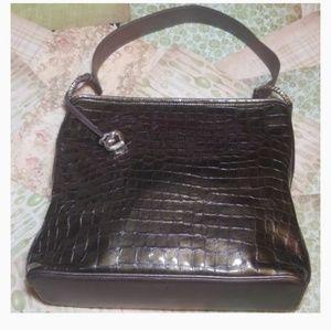 Brighton Croco Leather Bag
